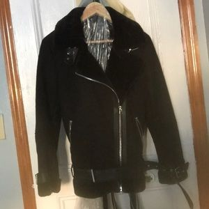 Other - Faux leather/suede moto jacket